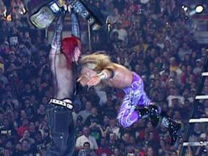 Edge spears Jeff Hardy